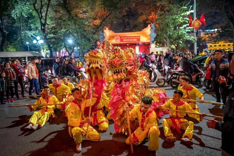 Celebration happening at Hanoi, the capital of Vietnam (Getty Images)