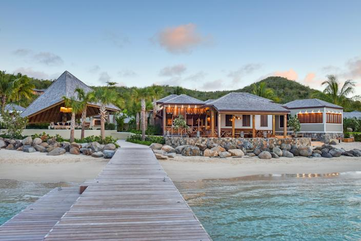 """<p>To enjoy the British Virgin Islands in guaranteed privacy, choose <a href=""""https://skylark.com/hotels/0025687?utm_medium=partner&utm_source=cnt&utm_content=rosewoodlittledixbay"""" rel=""""nofollow noopener"""" target=""""_blank"""" data-ylk=""""slk:Rosewood Little Dix Bay"""" class=""""link rapid-noclick-resp"""">Rosewood Little Dix Bay</a>'s 500 acres of beachfront property and sprawl out on the resort's beach on Virgin Gorda. The property is as secluded as it is all-inclusive and was recently renovated with unplugged relaxation in mind; most of its 81 guest rooms lack televisions, every lodging option has an ocean view, and the four on-site dining facilities are open-air. The on-site spa, two pools, food and beverage service to your beach char, and water activities like kayaking and deep-sea fishing will have you ready to disconnect from the world back home from the moment you arrive.</p> <p><strong>Book now:</strong> <a href=""""https://skylark.com/hotels/0025687?utm_medium=partner&utm_source=cnt&utm_content=rosewoodlittledixbay"""" rel=""""nofollow noopener"""" target=""""_blank"""" data-ylk=""""slk:skylark.com"""" class=""""link rapid-noclick-resp"""">skylark.com</a></p>"""