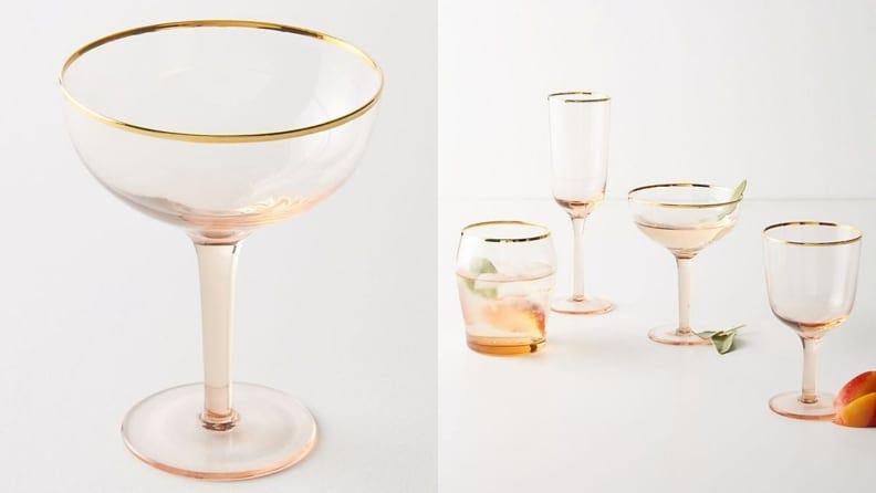 Coupe glasses are stylish, trendy, and perfect for the holidays.