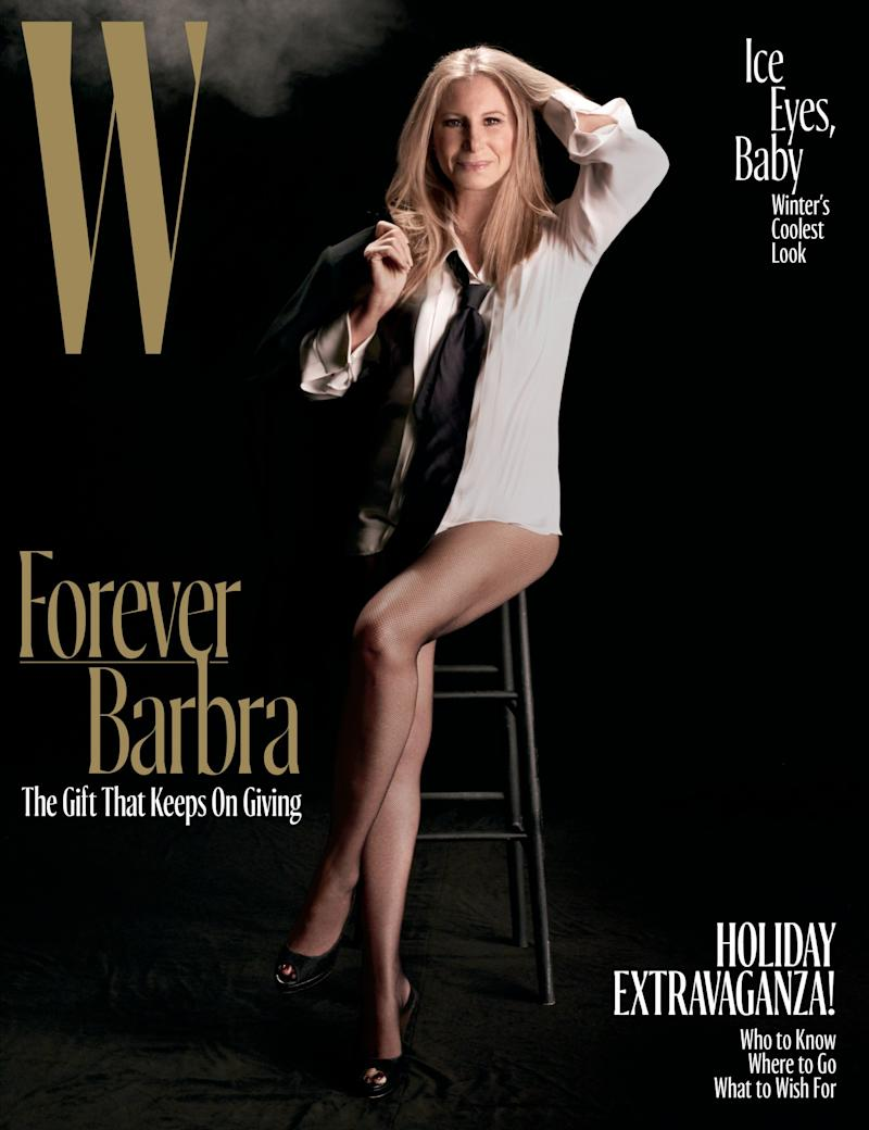Barbra Streisand is W's December cover star. (Photo: Steven Meisel)