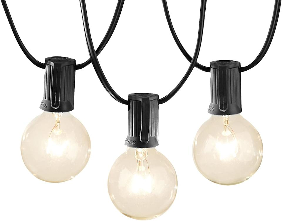 This photo gives us an idea: You ought to snap up a set of Basics Patio Lights! (Photo: Amazon)