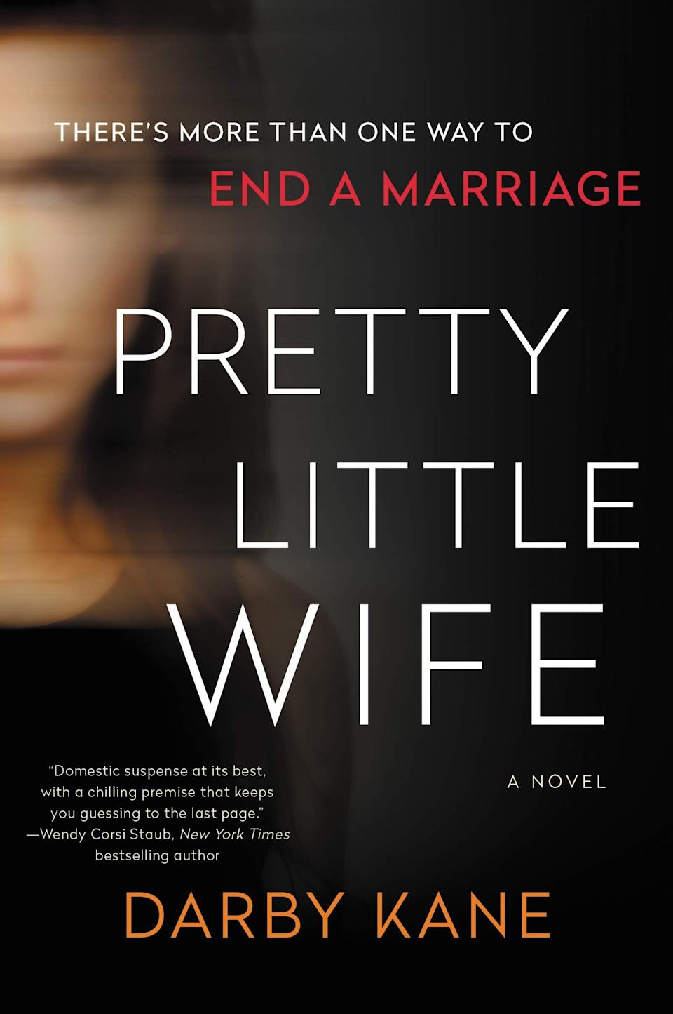 """When Lila's husband disappears, the small college town they live in goes into an uproar-- not only is he a beloved teacher at the local high school, but he's the second disappearance in two months. Lila is worried too-- because she was the last to see her husband's body and now it's gone. This twisty mystery thriller is Darby Kane's debut novel. Read more about it on <a href=""""https://www.goodreads.com/book/show/53441185-pretty-little-wife"""">Goodreads</a>, and grab a copy on <a href=""""https://amzn.to/36sWibE"""">Amazon</a> or <a href=""""https://fave.co/2JD1xNa"""">Bookshop</a>.<br /><br /><i>Expected release date:</i> <i>December 29</i>"""