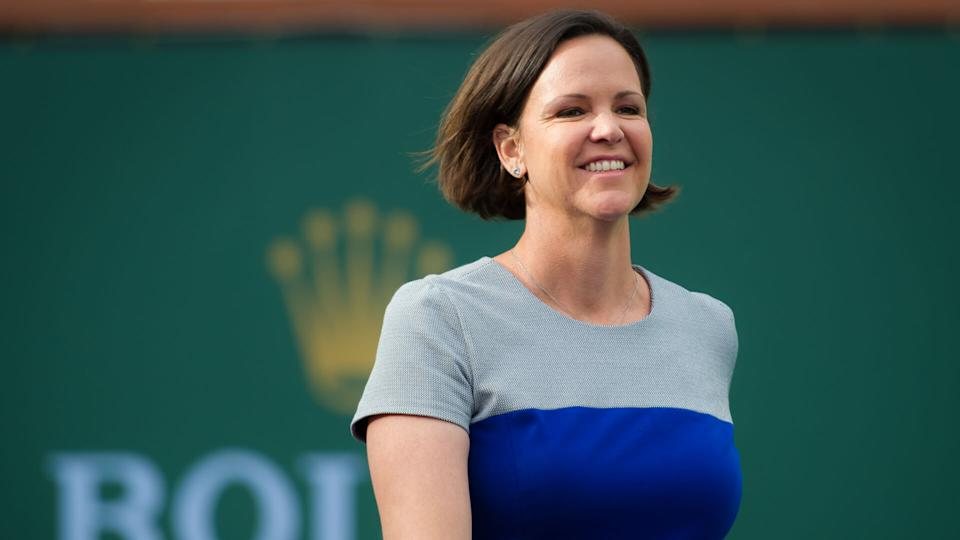 Lindsay Davenport at the 2016 BNP Paribas Open Hall of Fame Ceremony