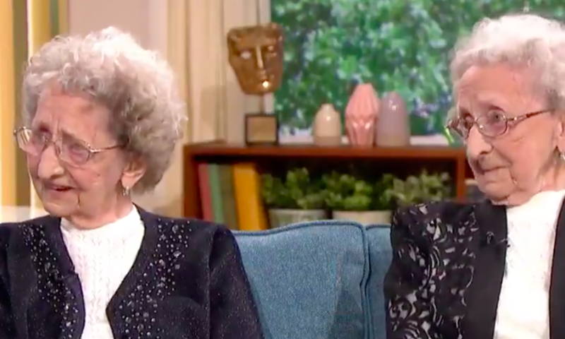 Britain's oldest identical twins have shared their secrets to a long and happy life [Photo: This Morning]