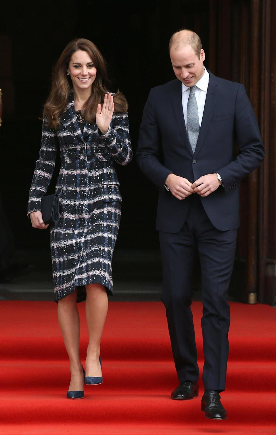 <p>For a day of engagements in Manchester with Prince William, the Duchess stayed warm in a new coat by British-based designer Erdem. </p><p><i>[Photo: PA Images]</i></p>