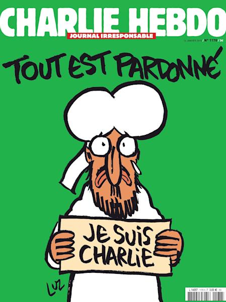 The front page of the upcoming editon of the satitical French newspaper Charlie Hebdo, released on January 12, 2015 in Paris (AFP Photo/)