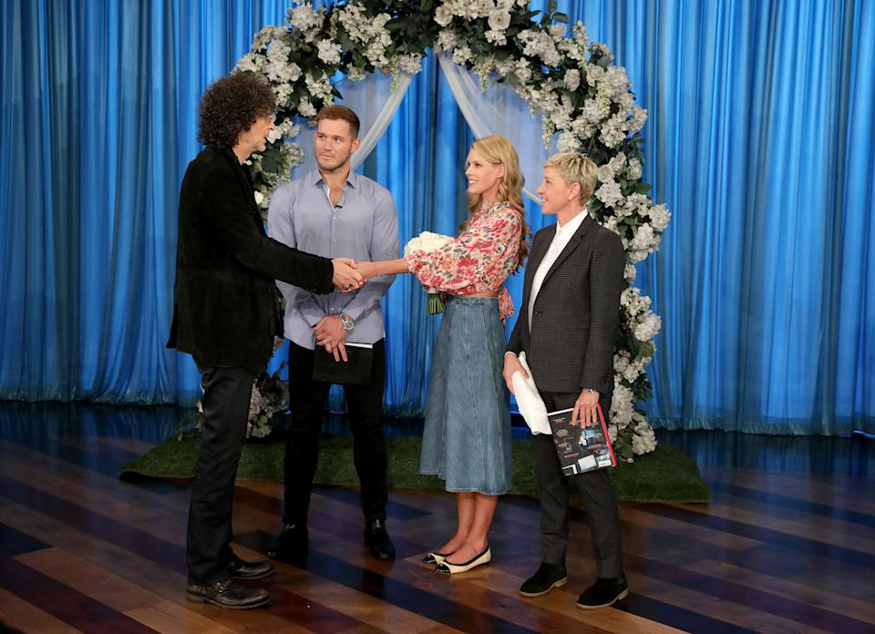 Howard and Beth Stern renewed their vows on the Ellen DeGeneres Show. (Photo: Michael Rozman/Warner Bros.)
