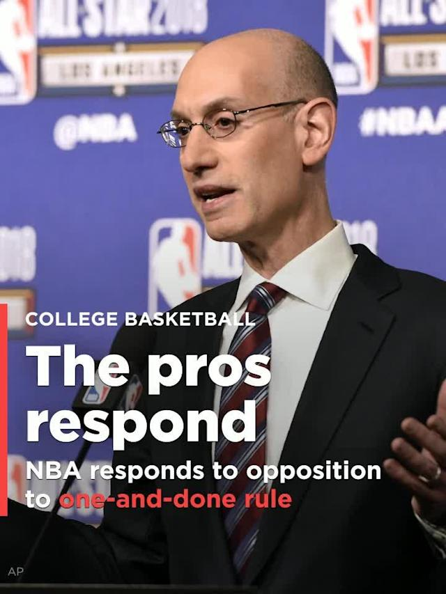 Following the Commission on College Basketball's release of a 60-page report recommending NCAA reform on Wednesday, the NBA and National Basketball Players Association issued a joint statement addressing the terms that impact the sport on its highest level, should they choose to accept them.