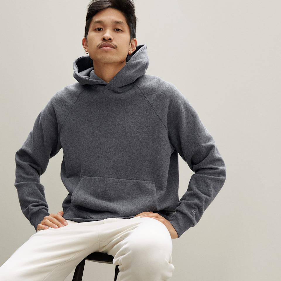 The Track Hoodie. Image via Everlane.