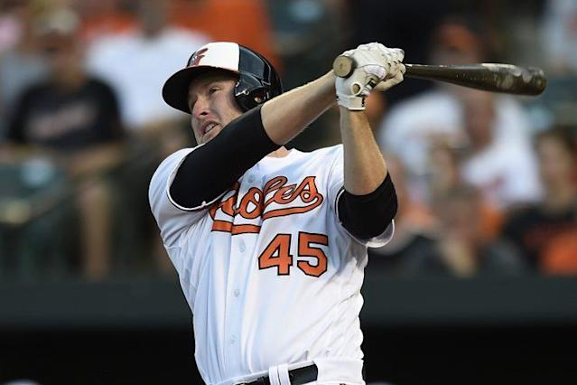 Mark Trumbo seems likely to be wearing a new uniform after the Orioles pulled their offer off the table. (AP)