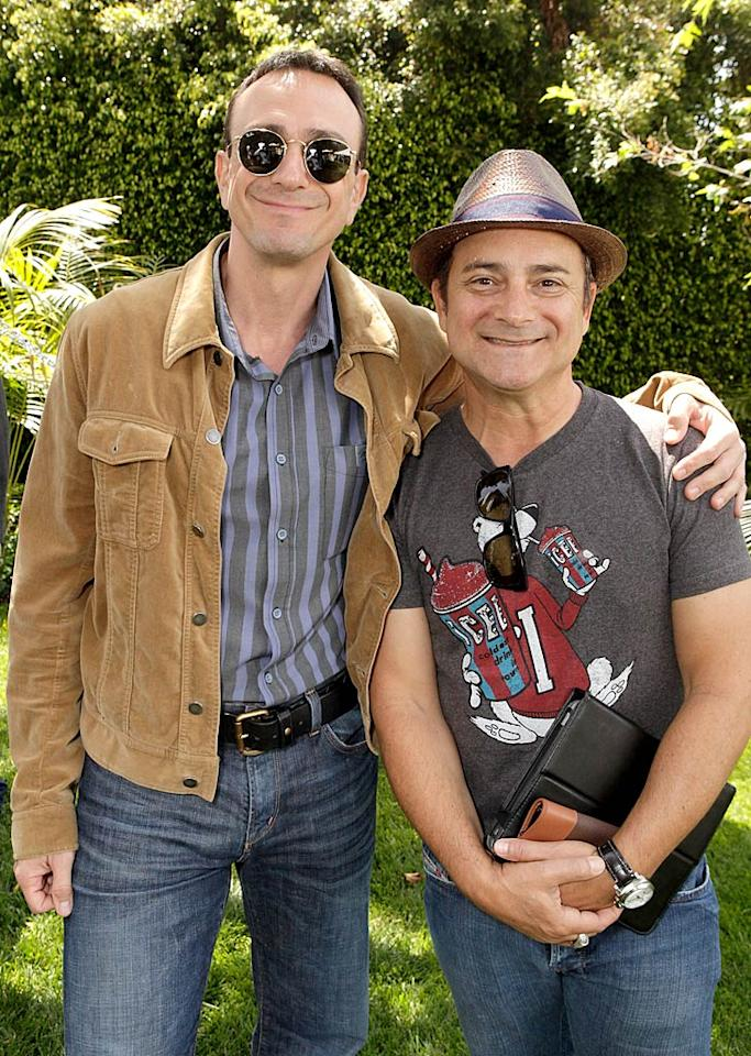 """Hank Azaria, who co-founded Determined to Succeed, got chummy with actor Kevin Pollak. Was Kevin smuggling in a book of poker cheat sheets? Todd Williamson/<a href=""""http://www.wireimage.com"""" target=""""new"""">WireImage.com</a> - May 21, 2011"""