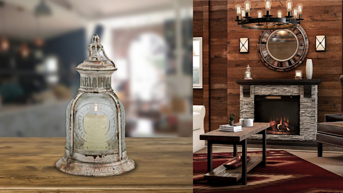 With a real flame or an electric candle, this lantern could work anywhere inside the house or out of it.