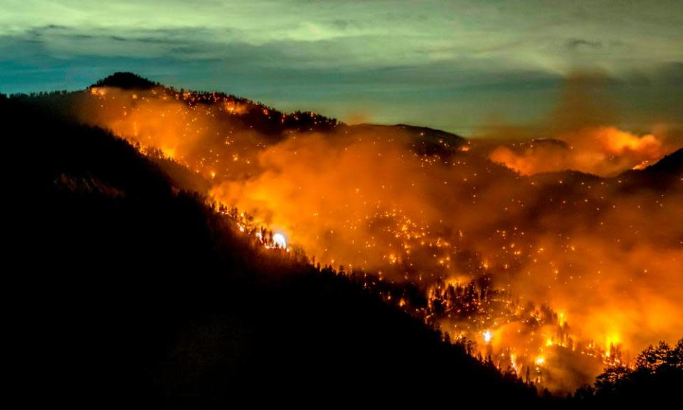 The Bobcat fire in the Los Angeles national forest, California