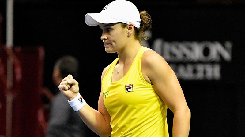 Ashleigh Barty-led Australia knock USA  out of Fed Cup