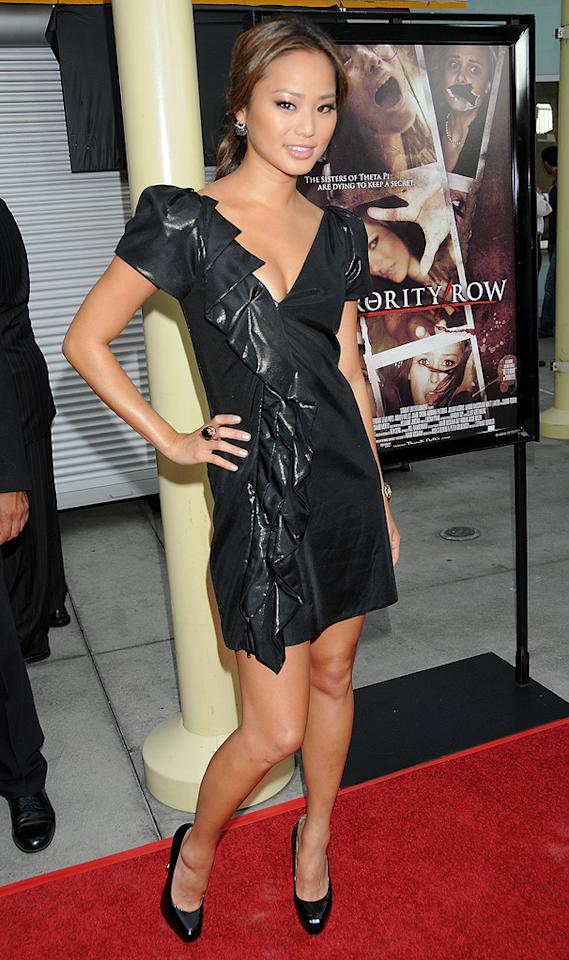 "<a href=""http://movies.yahoo.com/movie/contributor/1809766996"">Jamie Chung</a> at the Los Angeles premiere of <a href=""http://movies.yahoo.com/movie/1810046336/info"">Sorority Row</a> - 09/03/2009"