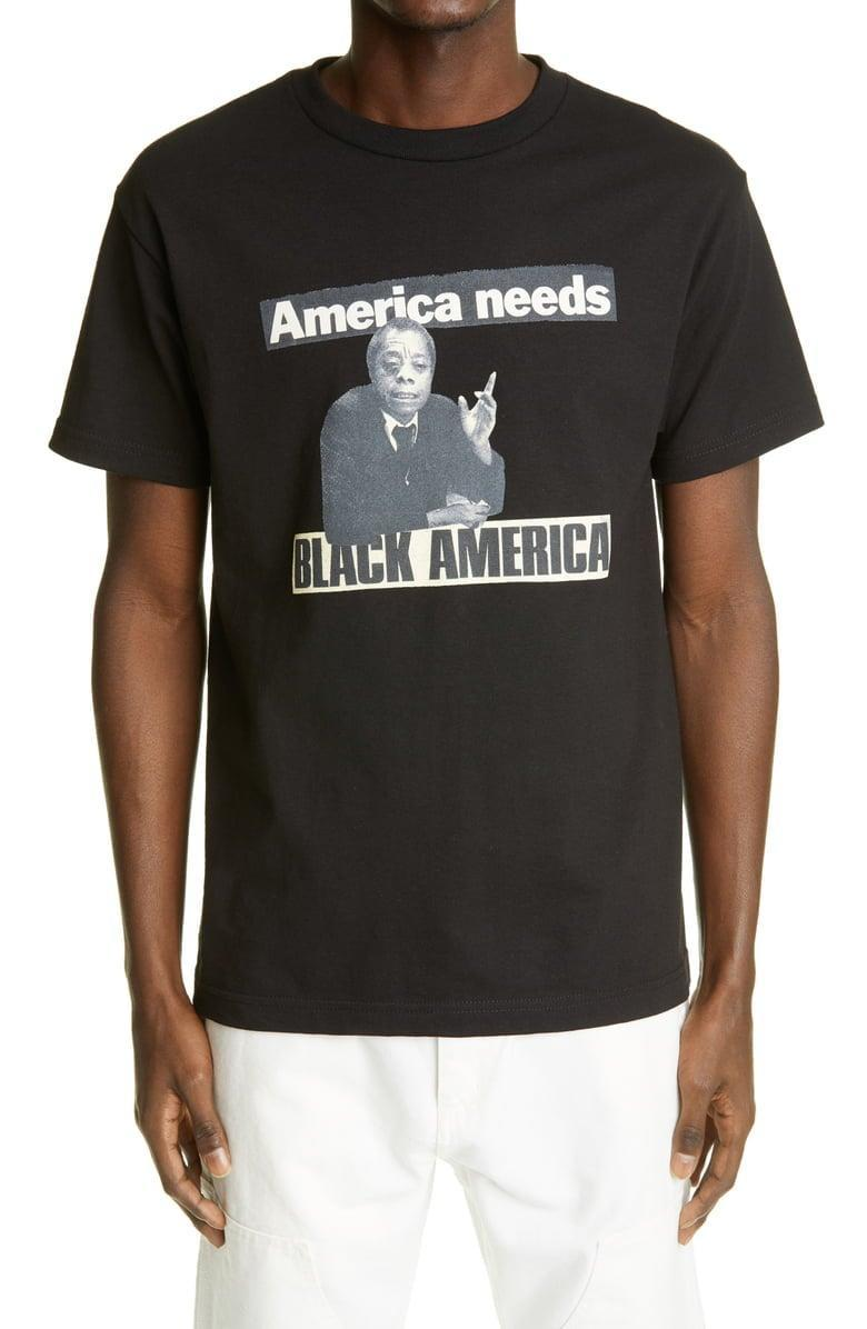 <p>This <span>Adeshola Makinde Black America Cotton Graphic Tee</span> ($50) says it all.</p>