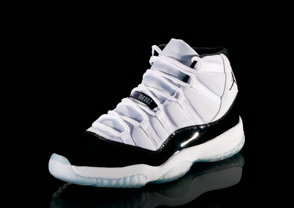 "<p>Air Jordan XI - ""Class Act"" (1996): In his first full season back after retirment, Jordan led the Bulls to 72 wins and a fourth title. MJ wore these in ""Space Jam."" (Photo courtesy of Nike)</p>"