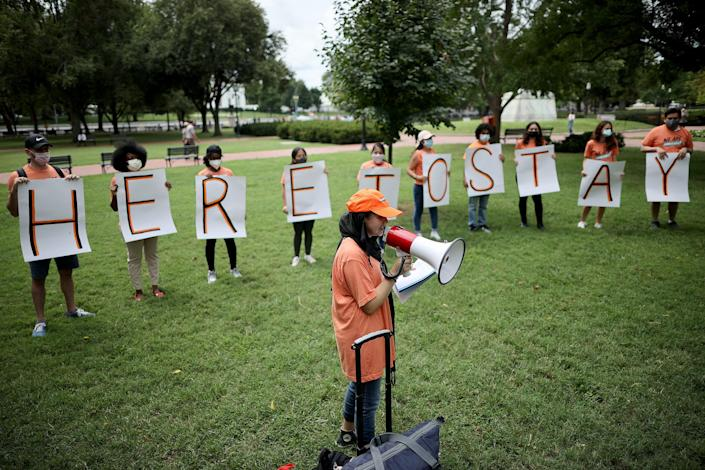 Activists Demand Citizenship For All Undocumented Immigrants During Rally Outside White House