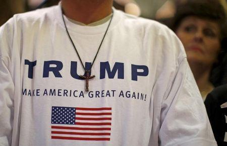 Supporters of U.S. Republican presidential candidate Donald Trump attend a campaign event in Waterloo