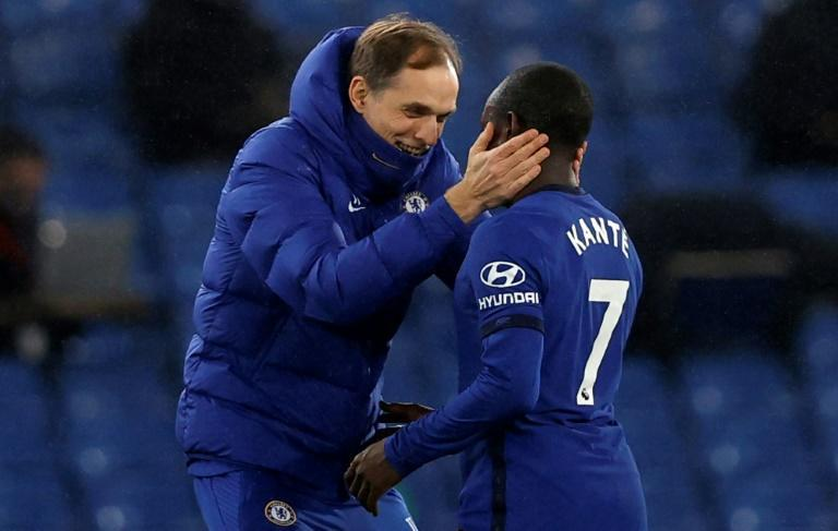 Chelsea manager Thomas Tuchel embraces N'Golo Kante