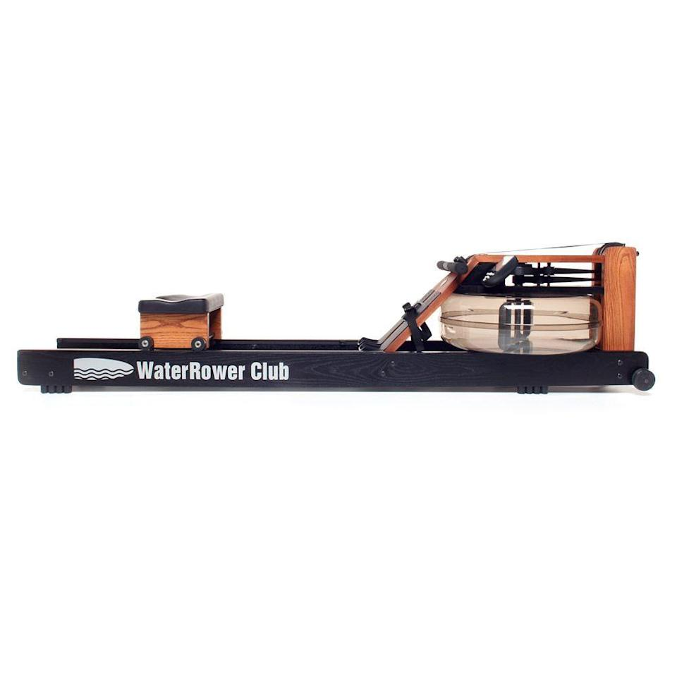 """<p><strong>WaterRower</strong></p><p>waterrower.com</p><p><strong>$1295.00</strong></p><p><a href=""""https://www.waterrower.com/ca/shop/club-rowing-machine.html"""" rel=""""nofollow noopener"""" target=""""_blank"""" data-ylk=""""slk:Shop Now"""" class=""""link rapid-noclick-resp"""">Shop Now</a></p><p><a href=""""//www.womenshealthmag.com/fitness/a28117681/what-is-orangetheory/"""" data-ylk=""""slk:Orangetheory"""" class=""""link rapid-noclick-resp"""">Orangetheory</a> stans, this one's for you! Not only can you get a boutique fitness-level rowing workout with this machine—which is made from solid ash wood—it's also one of the easiest options to stand and stow once your sweat sesh is over. Plus, it comes with a performance monitor to help you keep track of your strokes and progress. </p><p><strong>Reviewer rave: </strong>""""I was introduced to this rower when I joined Orangetheory Fitness four months ago. Since I started using the rower during my OTF sessions I have grown to love the overall workout this thing gives me. In fact, I loved it so much that I purchased the WaterRower Club for my home gym. The overall quality and construction is superb and I'm very satisfied with my purchase. I would highly recommend over any other home-gym equipment available. One of the best features is how it's so easy to stand up and move out of the way for storage. You can't do that with any treadmill or elliptical. This thing is amazing and worth every penny. Assembly was straightforward and took about 30-45 minutes. Solid, quality construction.""""<br></p>"""