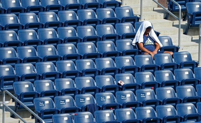Hot work being a spectator at the US Open