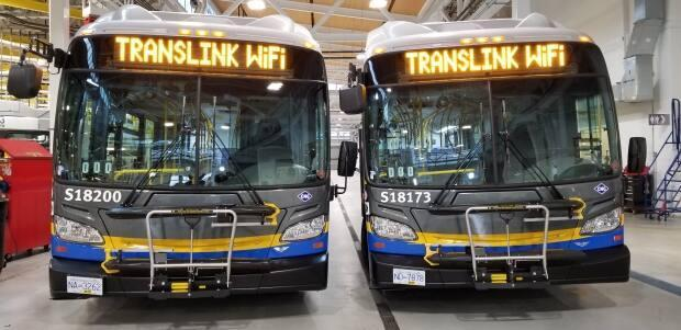 TransLink is restarting its rollout of free Wi-Fi throughout its service, after the pandemic forced planners to refocus on health and safety measures throughout the region. (Cory Correia/CBC - image credit)