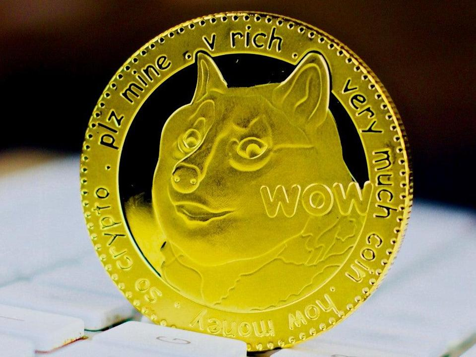 Dogecoin hit a new record high on 16 April, 2021 (Getty Images)