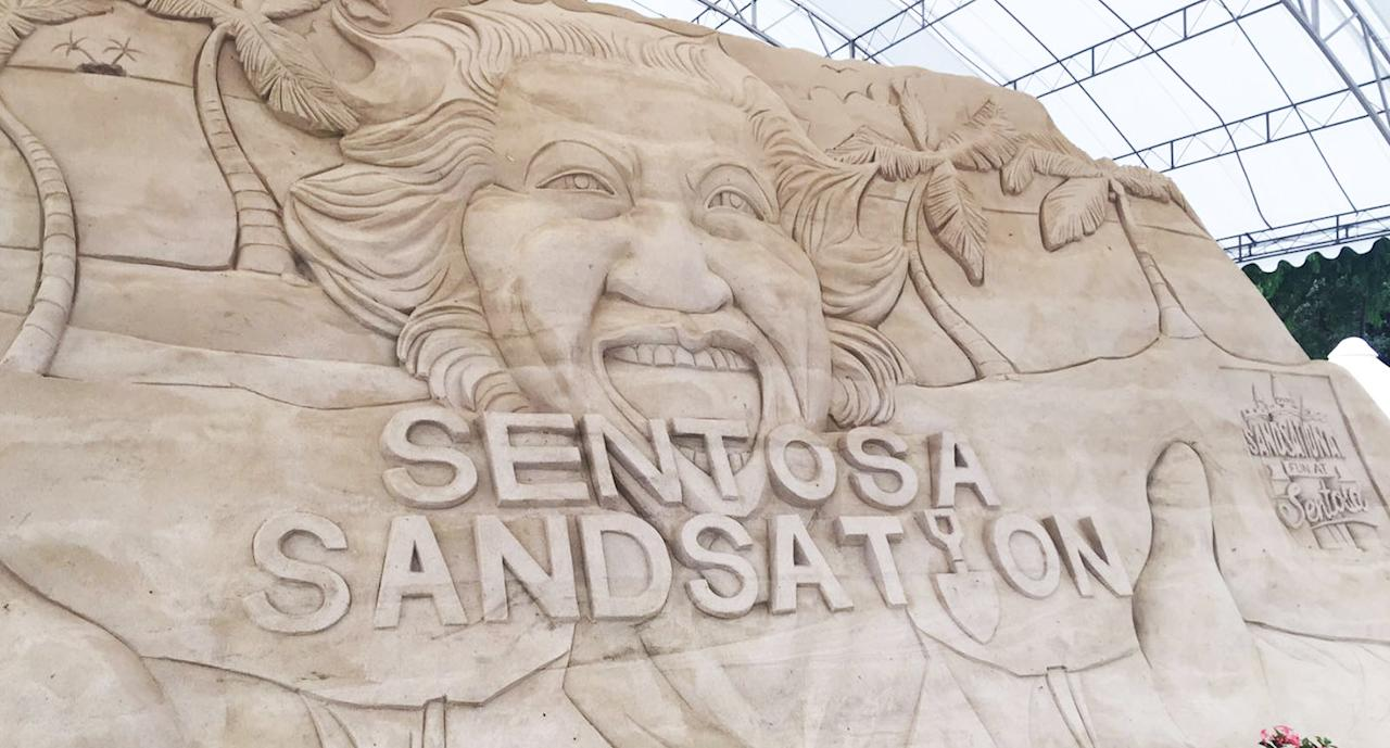 <p>Sand sculptures at the Sentosa Sandsation which will be on display from 1 to 17 September at Siloso Beach. (Photos: Gabriel Choo / Yahoo Lifestyle Singapore) </p>