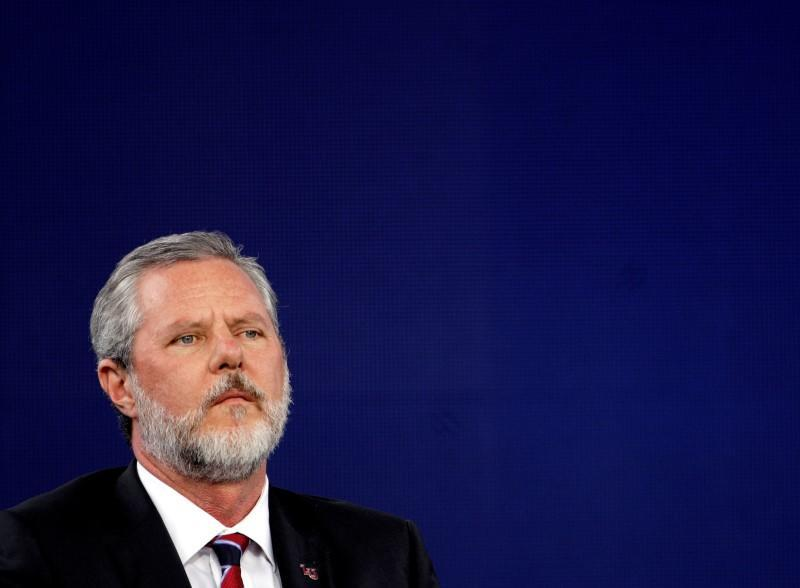 FILE PHOTO: Liberty University President Jerry Falwell Jr., attends commencement in Lynchburg, Virginia