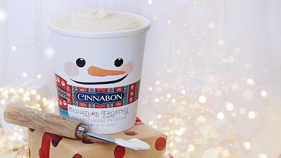 Cinnabon signature frosting pint is available at more than 300 mall bakeries nationwide and on food service delivery providers through December, or while supplies last. Starting at $5.99 (pricing may vary)