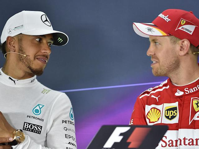 Lewis Hamilton is expecting a tough challenge from Sebastian Vettel this season: Getty