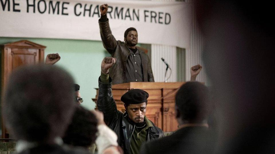 LaKeith Stanfield (foreground) and Daniel Kaluuya (rear) in Judas and the Black Messiah