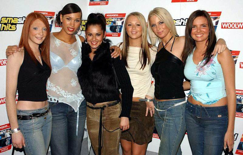 (left-right) Nicola Roberts, Javine Hylton, Cheryl Tweedy, Kimberley Walsh, Sarah Harding and Nadine Coyle the remaing girls from Popstars : the Rivals at the Smash Hits T4 Poll Winners Party at the London Arena.