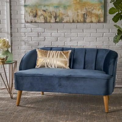 <p>This <span>Christopher Knight Home Amaia Modern New Velvet Settee</span> ($282) is perfect for Netflix and chill alone, or with your partner.</p>
