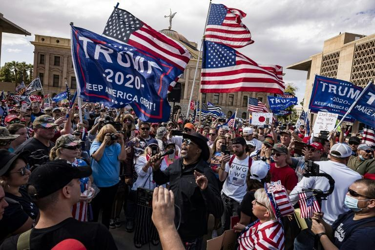 Trump supporters protested in Phoenix, Arizona and other American cities on November 7, 2020 after Joe Biden was elected US president