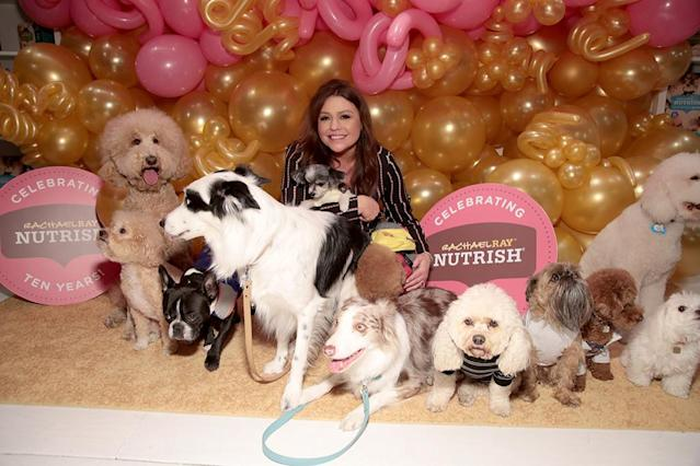 <p>The celebrity chef and talk show host was surrounded by a ton of puppy love, celebrating the 10th anniversary of her pet food brand, Nutrish, at Gary's Loft in New York City on Monday. (Photo: Cindy Ord/Getty Images for Nutrish) </p>