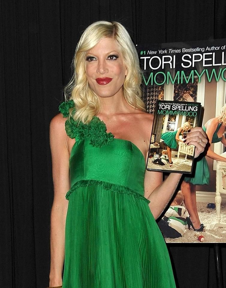 "Tori Spelling celebrated the launch of her new book ""Mommywood"" in where else -- Beverly Hills! Jordan Strauss/<a href=""http://www.wireimage.com"" target=""new"">WireImage.com</a> - April 13, 2009"