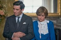 <p>Season 4 of Netflix's <em>The Crown </em>— which stands a strong chance of winning Best Drama Series — was a black eye for the Windsors: Corrin was both believable and deeply sympathetic as Princess Diana, a naïve young woman shedding any illusions about romance after marrying Josh O'Connor's sniveling Charles.</p>