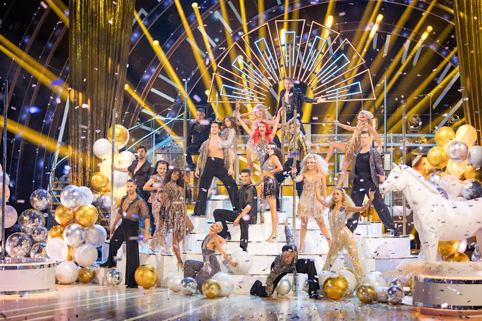 Programme Name: Strictly Come Dancing 2021 - TX: 18/09/2021 - Episode: Strictly Come Dancing - Launch Show (No. n/a) - Picture Shows:  The Strictly Come Dancing Professional Dancers - (C) BBC - Photographer: Guy Levy