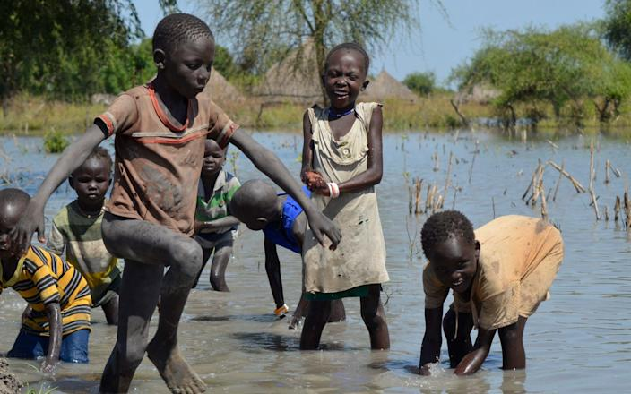 Flooding in South Sudan last year exacerbated food shortages - Maura Ajak/AP