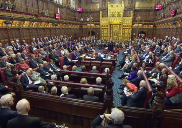 Major defeat: Peers in the Lords vote to keep option ofEU customs union after Brexit.