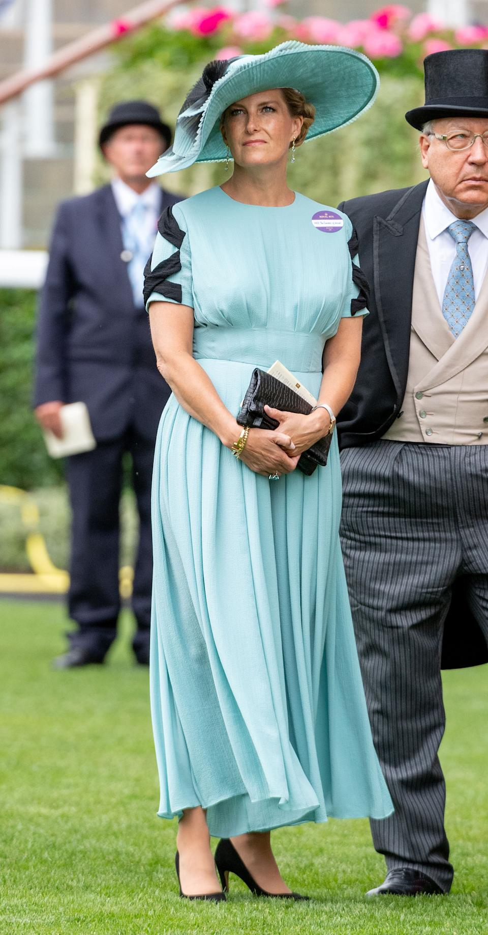 Sophie, Countess of Wessex wore an Emilia Wickstead jumpsuit last year [Photo: Getty]