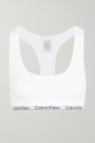 "<p>Calvin Klein Underwear </p><p><strong>How much? </strong>£32</p><p><a class=""link rapid-noclick-resp"" href=""https://go.redirectingat.com?id=127X1599956&url=https%3A%2F%2Fwww.net-a-porter.com%2Fen-gb%2Fshop%2Fproduct%2Fcalvin-klein-underwear%2Fck-one-stretch-jersey-soft-cup-bra%2F1224062&sref=https%3A%2F%2Fwww.womenshealthmag.com%2Fuk%2Fgym-wear%2Fg34576585%2Fbest-bralettes%2F"" rel=""nofollow noopener"" target=""_blank"" data-ylk=""slk:SHOP NOW"">SHOP NOW</a></p><p>We couldn't do a bralette round-up without including the OG style from Calvin Klein Underwear. Thanks to its sporty racer-back shape and branded underband, this one's been iconic since the early '90s.</p>"