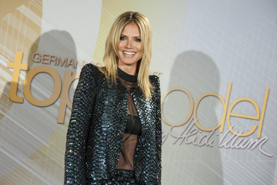 COLOGNE, GERMANY - JUNE 04: Heidi Klum attends the Germany's Next Topmodel - Finalists Photocall at the Lanxess-Arena on June 04, 2012 in Cologne, Germany. (Photo by Peter Wafzig/Getty Images)