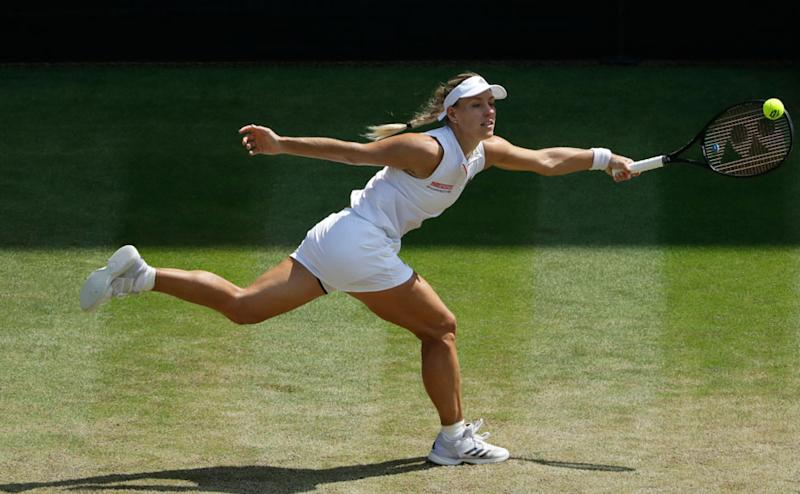 Angelique Kerber played Jelena Ostapenko in the first match of the afternoon. Ostapenko and Kerber were the two highest seeded players remaining in the women's singles tournament. AP