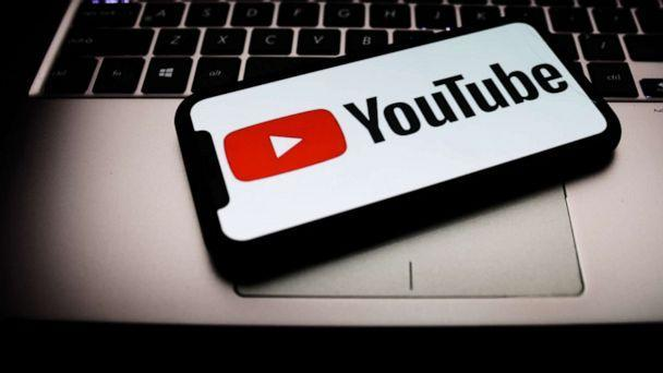 PHOTO: In this file photo, the Youtube logo is seen displayed on a phone screen. (NurPhoto via Getty Images, FILE)