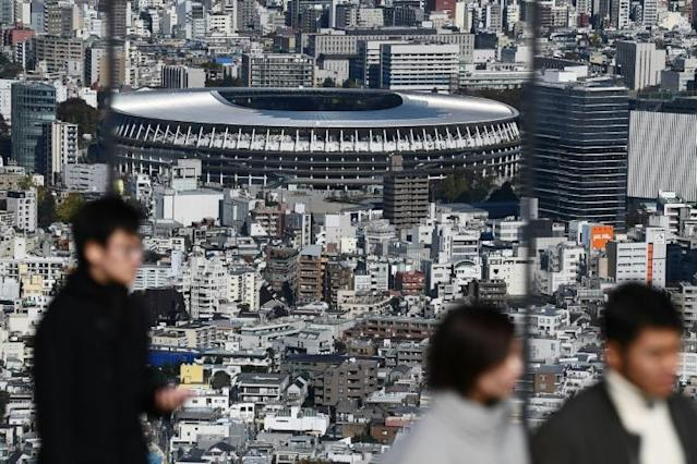Japan's main stadium for the 2020 Olympics has been built in the centre of Tokyo on the site of the 1964 stadium (AFP Photo/CHARLY TRIBALLEAU)