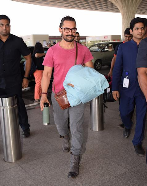 Bollywood celebrities were spotted returning to Mumbai after celebrating the New Year abroad. Take a look at the pictures...