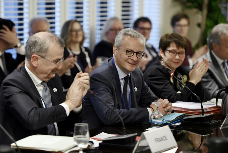 France's finance minister Bruno Le Maire presides over a meeting of G7 finance ministers and central bankers